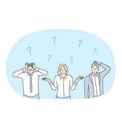 frustration business crisis doubt challenge vector image
