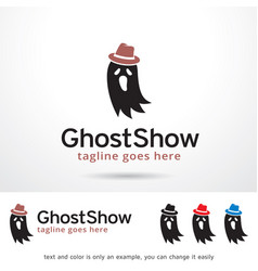 Ghost show logo template vector