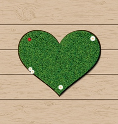 Grass heart vector image vector image