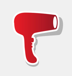 hair dryer sign new year reddish icon vector image