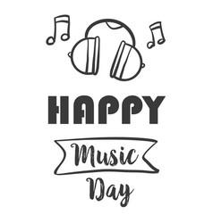 Happy music day vector