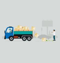 irresponsible cargo truck vector image