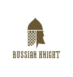 Knight head helmet with chain mail armor vector image