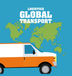 logistic global transport concept vector image