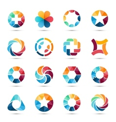 Logo set Circle signs and symbols vector