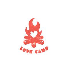 Love camp logo vector