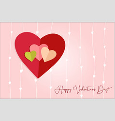 love hearts postal vector image