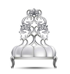 luxury baroque chair realistic 3d design vector image