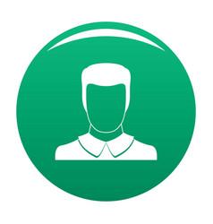 Male avatar icon green vector