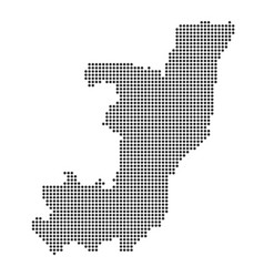 Map with dot vector