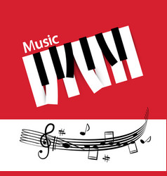 music background with abstract piano notes keys vector image