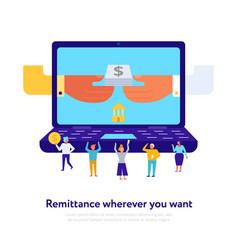 online payment flat vector image