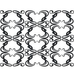 Ornament in black 11 vector image