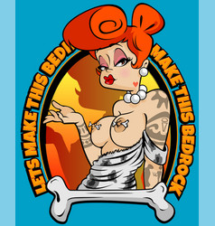 Pin up wilma vector