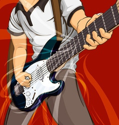 Playing Guitar vector image