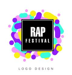 Rap festival logo template creative banner vector
