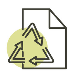recycle paper ecology alternative sustainable vector image