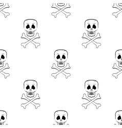 Scull Cross Bones Seamless Pattern vector