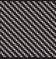 seamless ethnic lines pattern black and white vector image