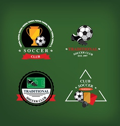 Set of soccer badge labelsemblems vector