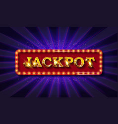shining retro sign jackpot banner vector image