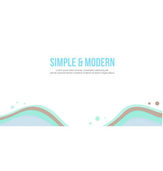 Simple modern design abstract background header vector