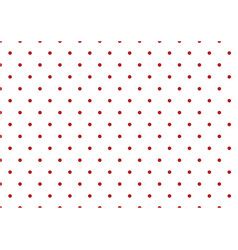 small red polka dots on white seamless pattern vector image