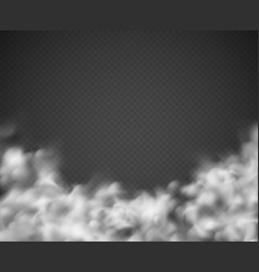 smoke background mist white clouds smoking spooky vector image