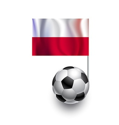 soccer balls or footballs with flag poland vector image