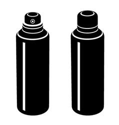 Spray can black symbol vector