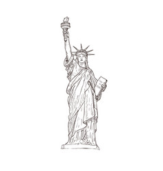Statue of liberty sight of america vector