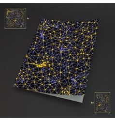 Textbook Booklet Notebook Mockup 3D Grid vector