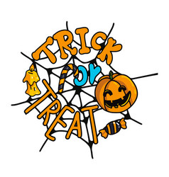 Trick or treaet leterring composition vector