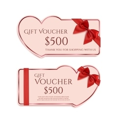 Two gift card templates vector image