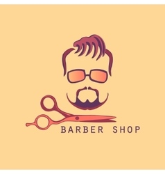 Vintage Barber Shop Label vector image