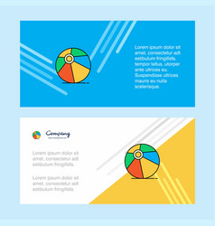 volley ball abstract corporate business banner vector image