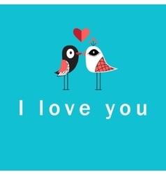 With birds in love vector