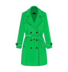 Womens coat with a belt vector image