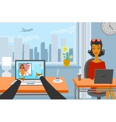 Working day vector image