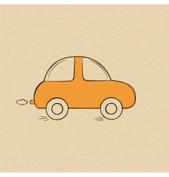 Doodle drawing of a car vector image vector image