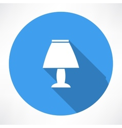 night lamp icon vector image vector image