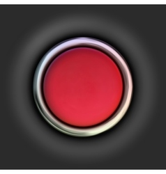 Realistic red button vector image