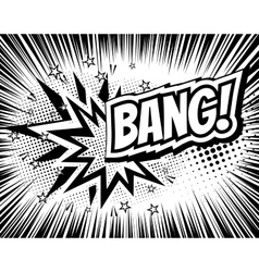 Bang comic cartoon wording Pop-art style vector image