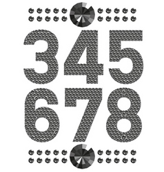 diamond letters and numbers big and small vector image vector image