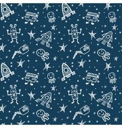 hand drawn doodles cartoon set of Space vector image
