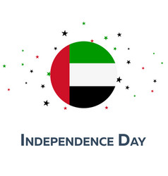 Independence day of united arab emirates vector