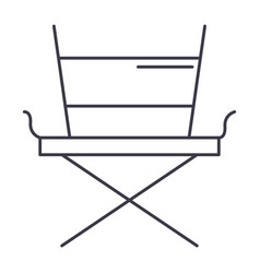 movie director chair line icon sign vector image