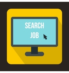 Search Job icon in flat style vector image