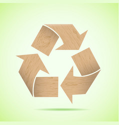 Wooden recycle icon vector image vector image
