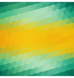 Abstract Green Yellow Triangle Background vector image